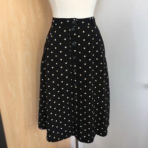 Forever 21 Polka Dot Button Front Skirt